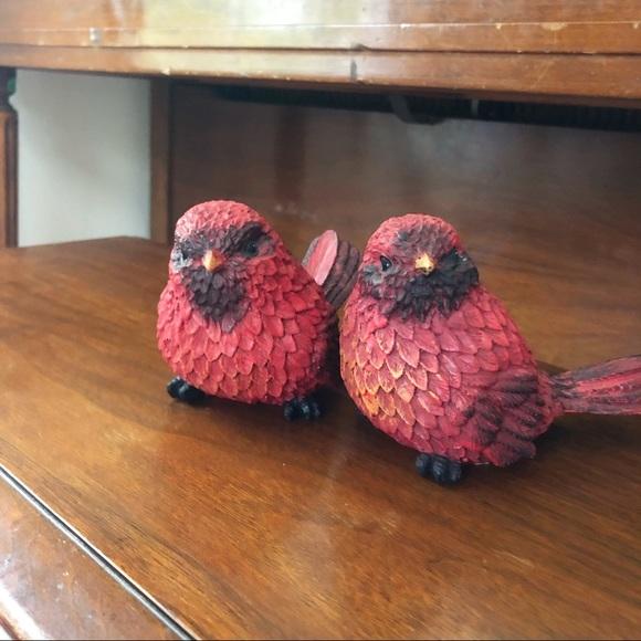 Tii Collections Resin Cardinal Chonky Bird Set